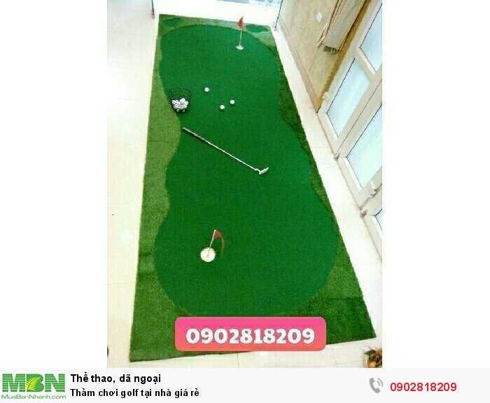 Thảm chơi golf tại nhà giá rẻ0