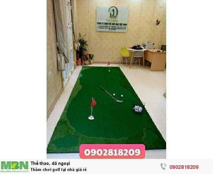 Thảm chơi golf tại nhà giá rẻ2
