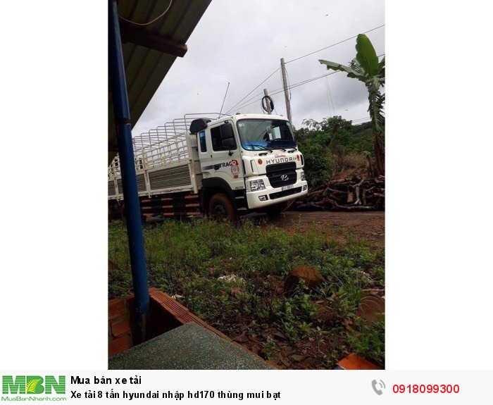 Xe tải 8 tấn hyundai nhập hd170 thùng mui bạt 1