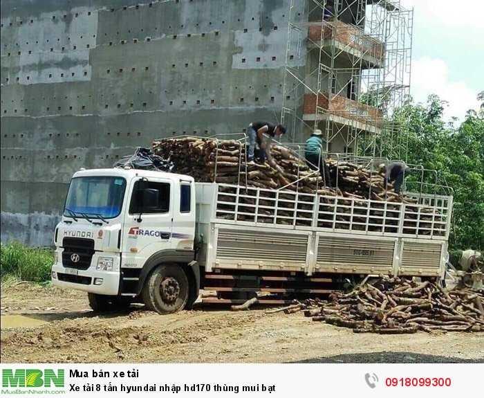 Xe tải 8 tấn hyundai nhập hd170 thùng mui bạt 2