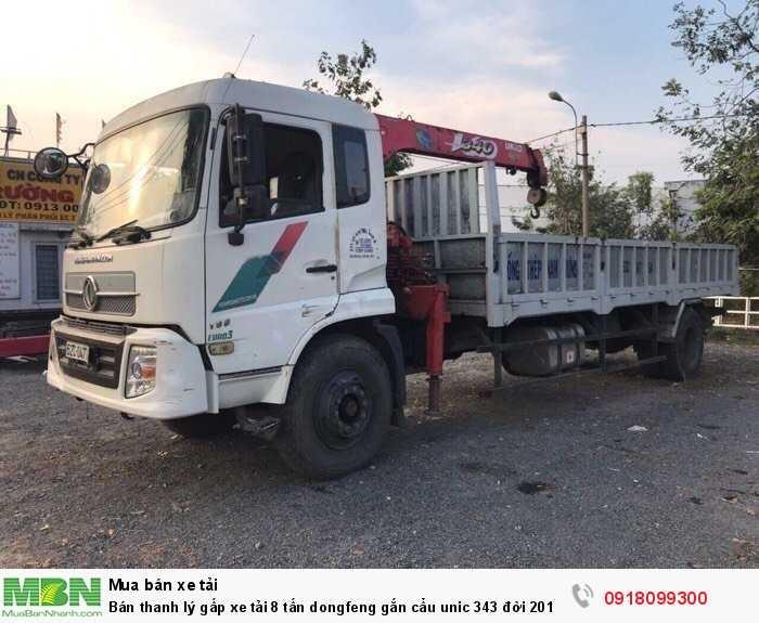 Bán thanh lý gấp xe tải 8 tấn dongfeng gắn cẩu unic 343 đời 2015