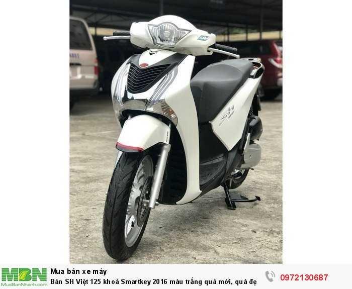 Bán SH Việt 125 khoá Smartkey 2016 màu trắng quá mới, quá đẹp.