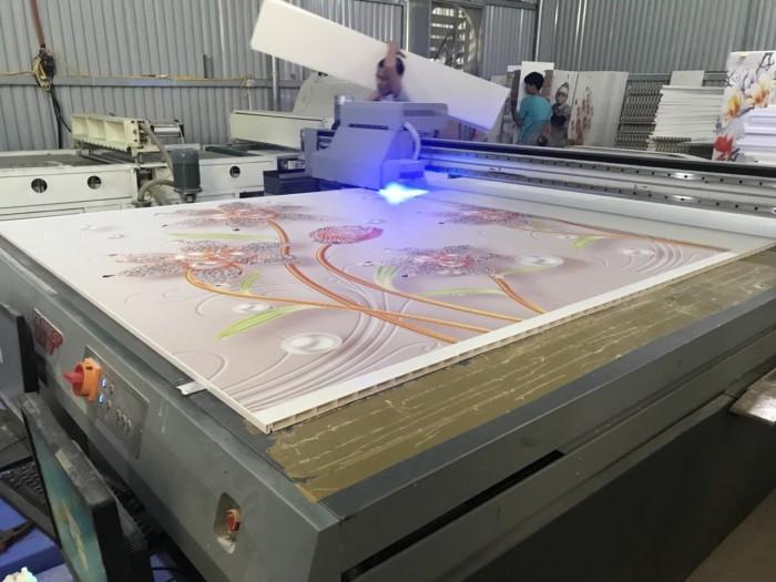 Máy in UV in hình ảnh nổi lên tấm tủ nhựa Đài Loan