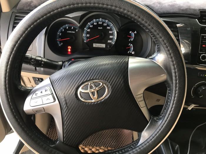 Bán Toyota Fortuner G 2.5MT màu bạc số sàn máy dầu sản xuất 2015 biển SG
