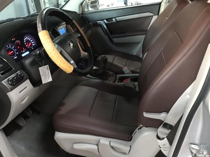 Bán Chevrolet Captiva 2.4LT màu bạc số sàn biển Sài Gòn sản xuất 2013 mẫu mới chạy 46000km