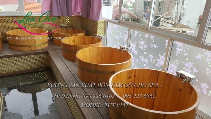 Bồn xông hơi, bồn tắm gỗ.12