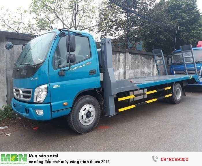 Xe nâng đầu chở máy công trình thaco 2019
