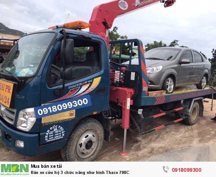 Bán xe cứu hộ 3 chức năng như hình Thaco 700C