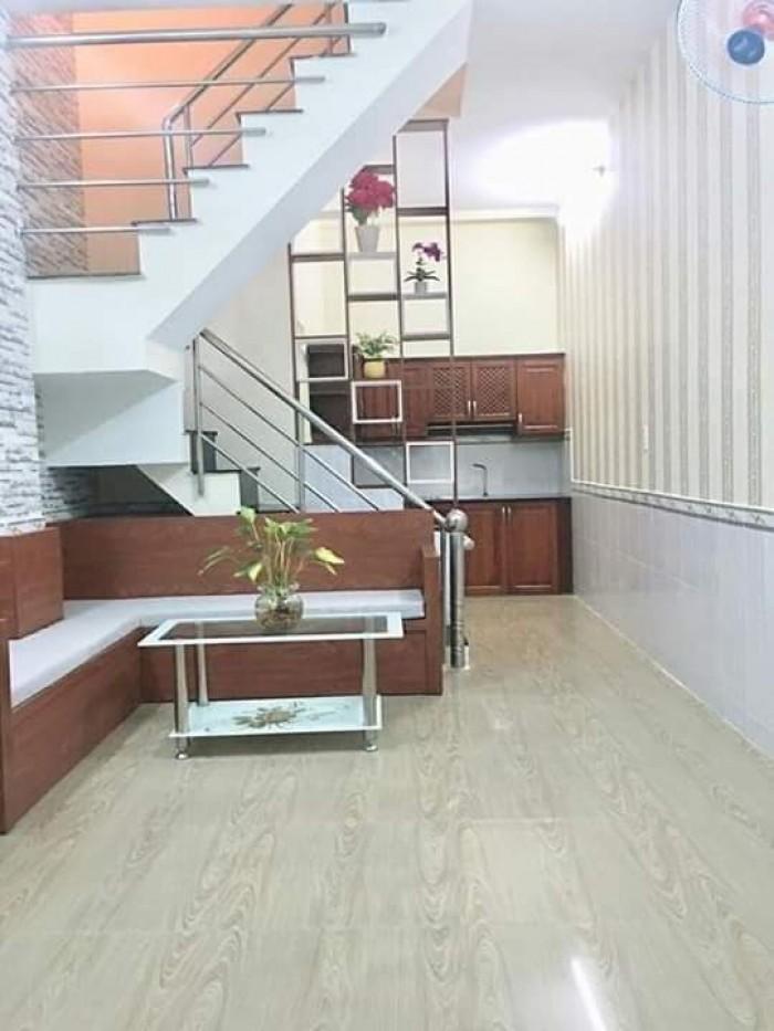 Bán nhà hẻm 2279 Huỳnh Tấn Phát, Kp7, Thị trấn Nhà Bè. DT 3.5 x 8m, trệt 2 lầu, hẻm xe hơi