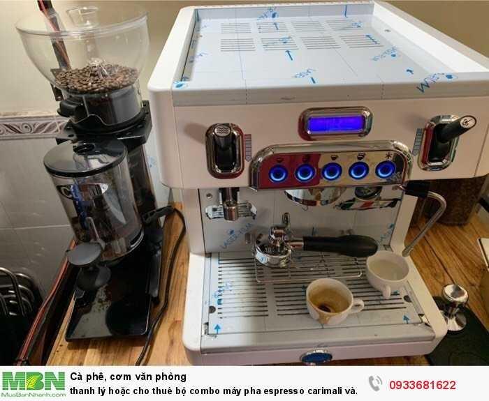Thanh lý hoặc cho thuê bộ combo máy pha espresso carimali và cunill tauro1