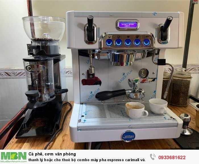 Thanh lý hoặc cho thuê bộ combo máy pha espresso carimali và cunill tauro2