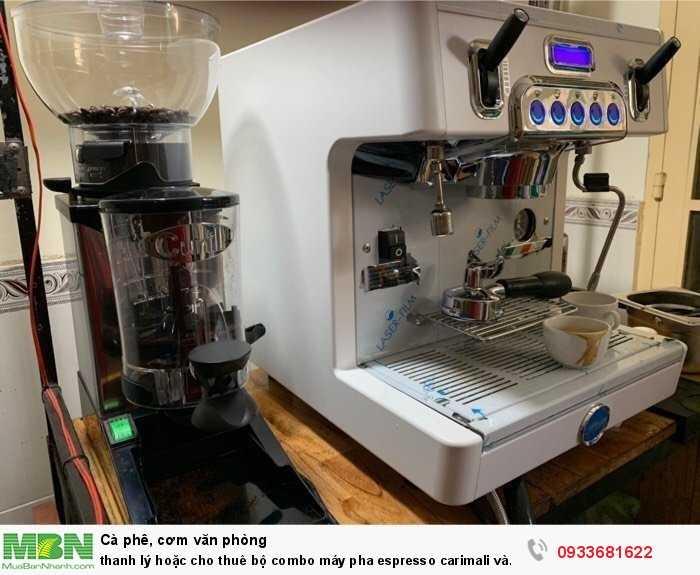 Thanh lý hoặc cho thuê bộ combo máy pha espresso carimali và cunill tauro3