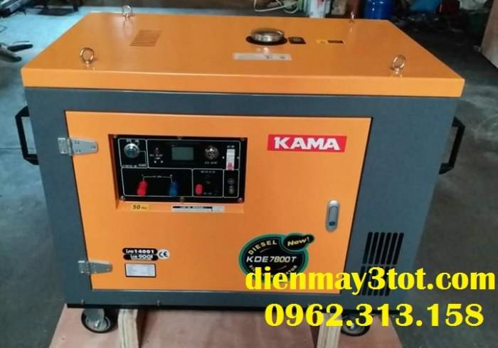 Máy phát điện chạy dầu 7kw Kama Đức có cách âm cho gia đình2