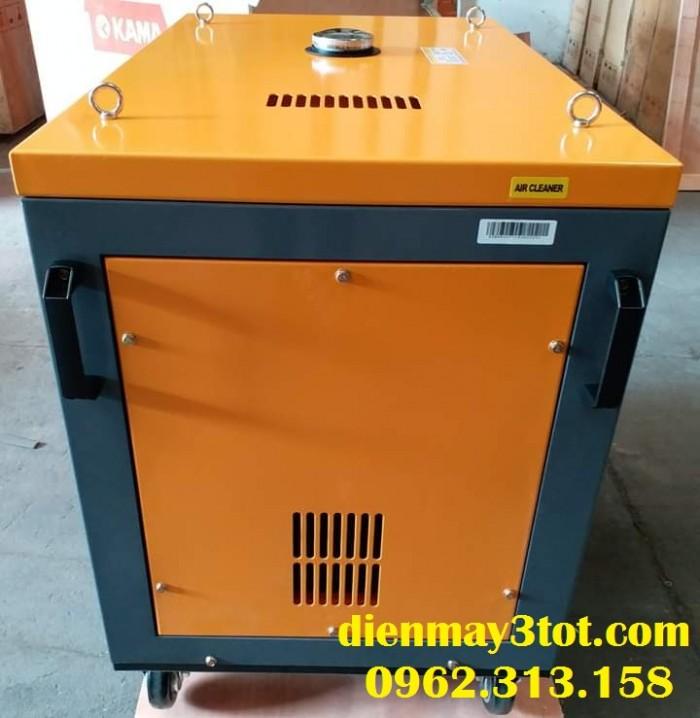 Máy phát điện chạy dầu 6kw Kama công nghệ Đức cách âm có tủ tự động đóng mở điện ATS0