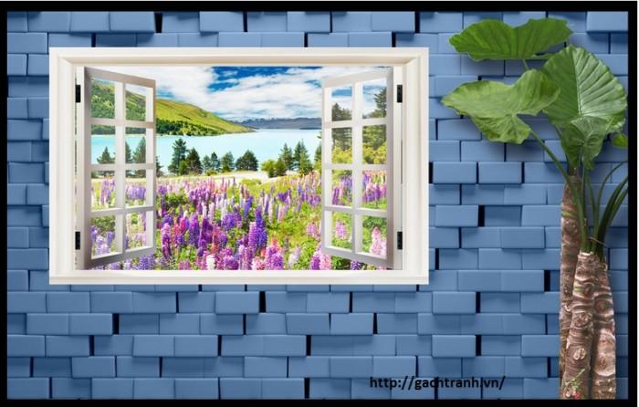 Tranh 3d hình cửa sổ- gạch tranh 3d8