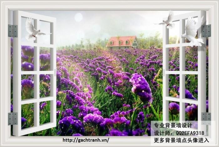 Tranh 3d hình cửa sổ- gạch tranh 3d5