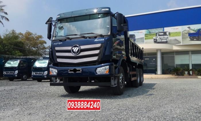 Bán trả góp xe ben 3 chân Thaco Auman D240 ETX Euro 4 máy Weichai thùng 10 khối Góp 80 % Long An Tiền Giang Bến Tre 0