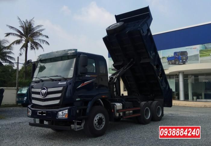 Bán trả góp xe ben 3 chân Thaco Auman D240 ETX Euro 4 máy Weichai thùng 10 khối Góp 80 % Long An Tiền Giang Bến Tre