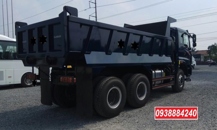 Bán trả góp xe ben 3 chân Thaco Auman D240 ETX Euro 4 máy Weichai thùng 10 khối Góp 80 % Long An Tiền Giang Bến Tre 2