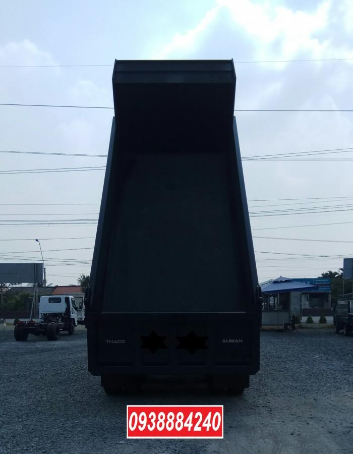 Bán trả góp xe ben 3 chân Thaco Auman D240 ETX Euro 4 máy Weichai thùng 10 khối Góp 80 % Long An Tiền Giang Bến Tre 3