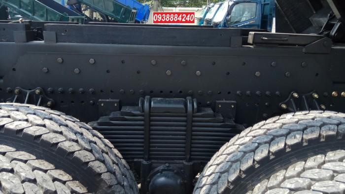 Bán trả góp xe ben 3 chân Thaco Auman D240 ETX Euro 4 máy Weichai thùng 10 khối Góp 80 % Long An Tiền Giang Bến Tre 4