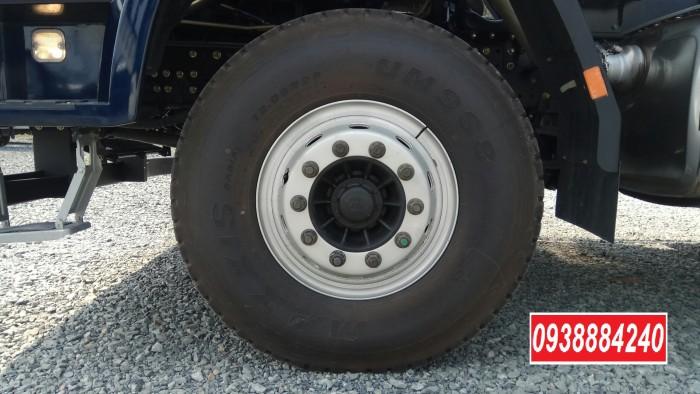Bán trả góp xe ben 3 chân Thaco Auman D240 ETX Euro 4 máy Weichai thùng 10 khối Góp 80 % Long An Tiền Giang Bến Tre 5