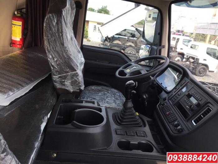 Bán trả góp xe ben 3 chân Thaco Auman D240 ETX Euro 4 máy Weichai thùng 10 khối Góp 80 % Long An Tiền Giang Bến Tre 9