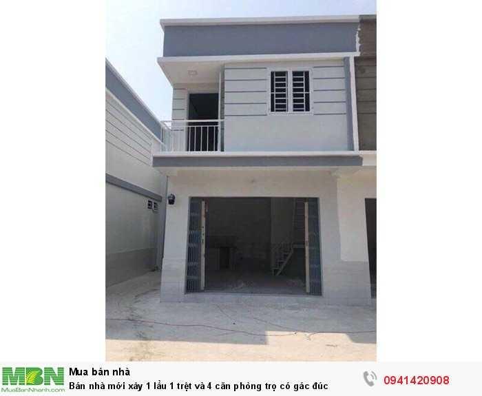 Bán nhà mới xây 1 lầu 1 trệt và 4 căn phòng trọ có gác đúc