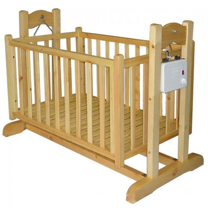 Nôi điện em bé bằng gỗ thông 2 tầng 3 trong 1 giá mềm