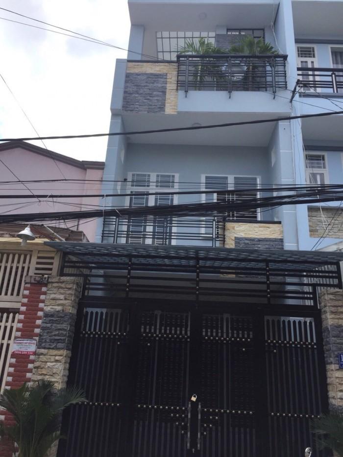 Bán nhà hẻm thông XH dt 4x16m,2 lầu, p Phú Thạnh
