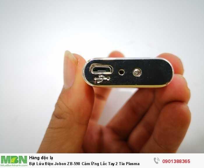 Bật lửa sạc điện JOBON có thể sạc bằng cách sử dụng USB Slot và không cần n...