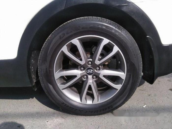 Cần bán xe Hyundai Santa Fe 2013, máy xăng, màu trắng bản thường. 2