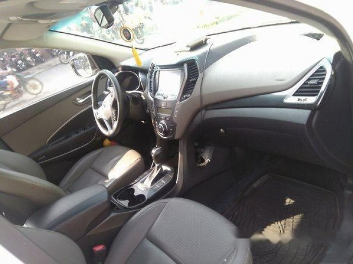 Cần bán xe Hyundai Santa Fe 2013, máy xăng, màu trắng bản thường. 5