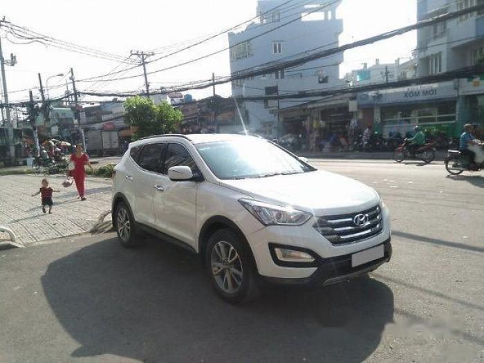 Cần bán xe Hyundai Santa Fe 2013, máy xăng, màu trắng bản thường. 1