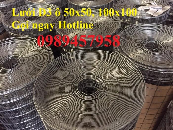 Mua lưới thép hàn phi 3 ô 50x50 khổ 1,5m, phi 4 ô 50x50, 50x100, 50x2000
