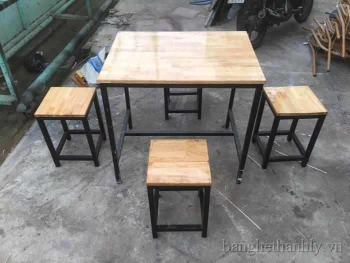 bàn ghế gổ quán nhậu rẻ tại xưởng sản xuất HGH 419