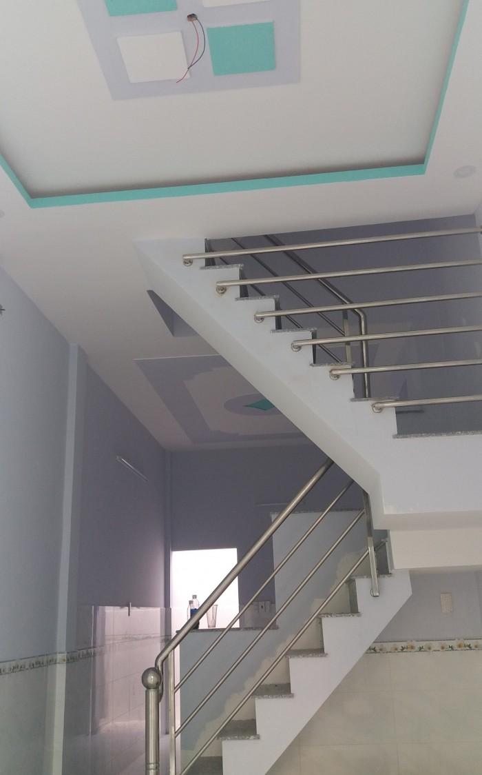 Nhà Gò Xoài 3,2x10m 1 trệt 3 lầu ST 3 pn hẽm 4m thong