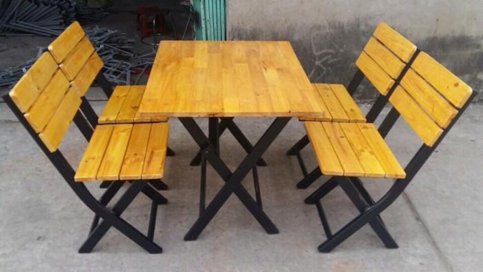 Bàn ghế gổ xiếp giá rẻ tại xưởng sản xuất HGH 4270