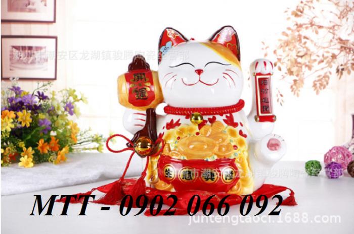 Mèo thần tài Neko loại đẹp 23x24x17cm5