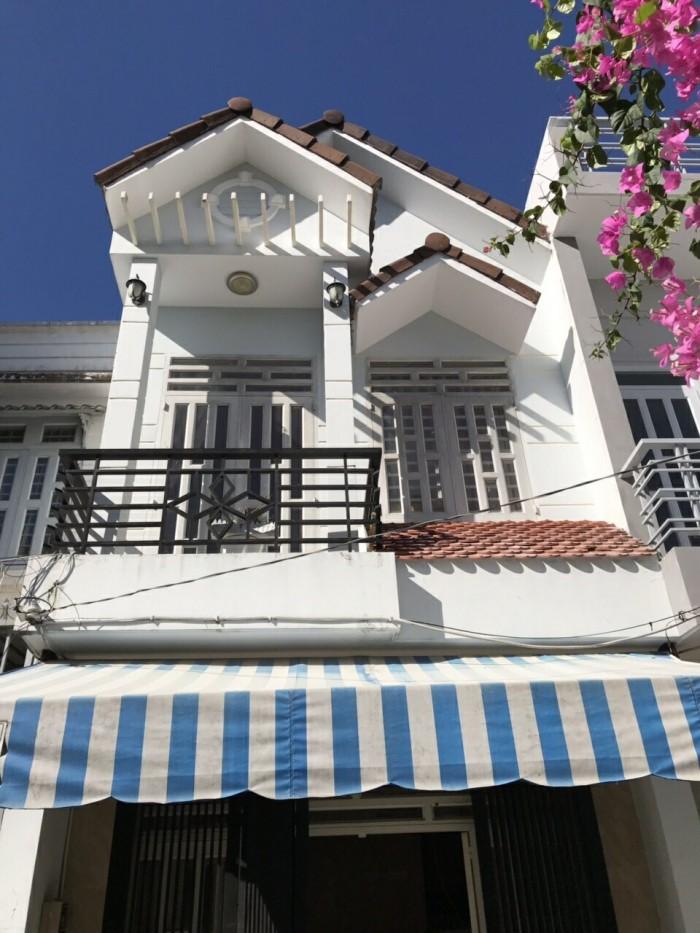 Bán nhà Thị trấn Nhà Bè, đường Huỳnh Tấn Phát, nhà 1 trệt 1 lầu. DT 4x14m, hẻm xe hơi