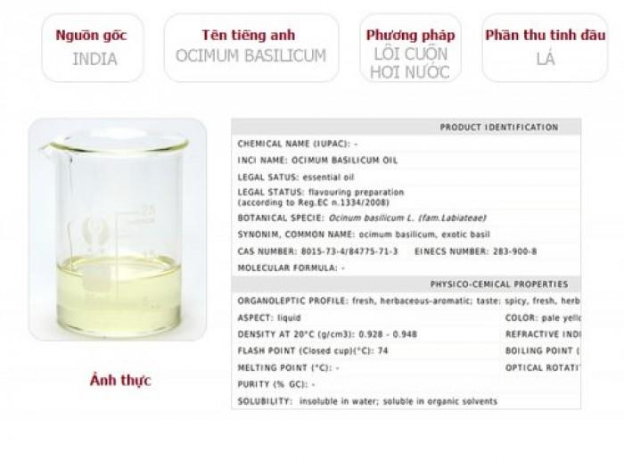 Tinh dầu húng quế Plus 20ml - Basil EO nguyên chất thiên nhiên Ấn Độ - Xông hương, Thơm phòng1
