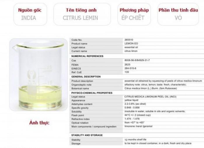 Tinh dầu chanh plus 20ml – Lemon EO nguyên chất thiên nhiên Ấn Độ – Thơm mát, sạch2