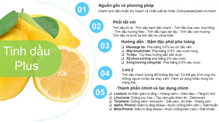 Tinh dầu chanh plus 20ml – Lemon EO nguyên chất thiên nhiên Ấn Độ – Thơm mát, sạch1