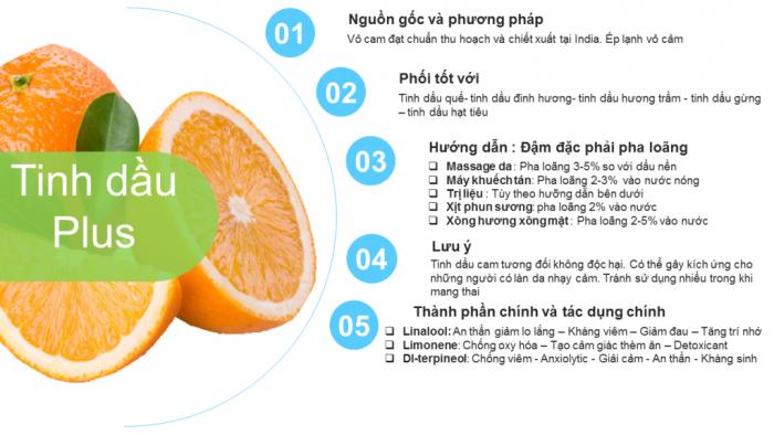 Tinh dầu cam ngọt plus 20ml – Sweet Orange EO nguyên chất thiên nhiên Ấn Độ – Thơm mát4