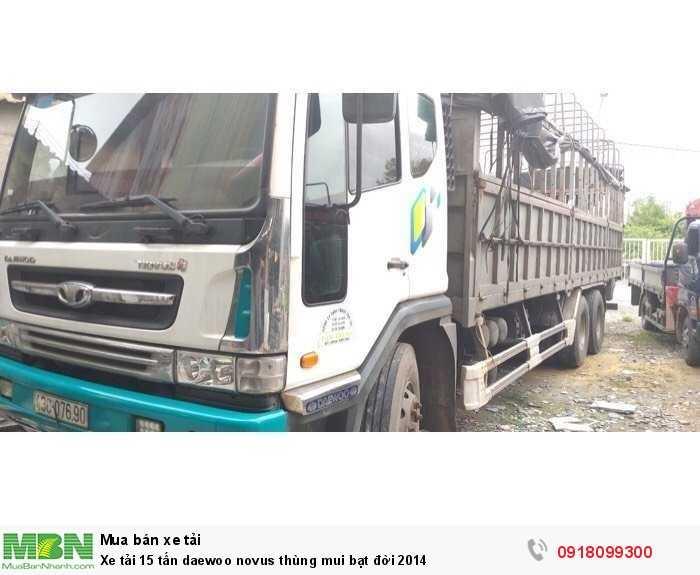 Xe tải 15 tấn daewoo novus thùng mui bạt đời 2014 2
