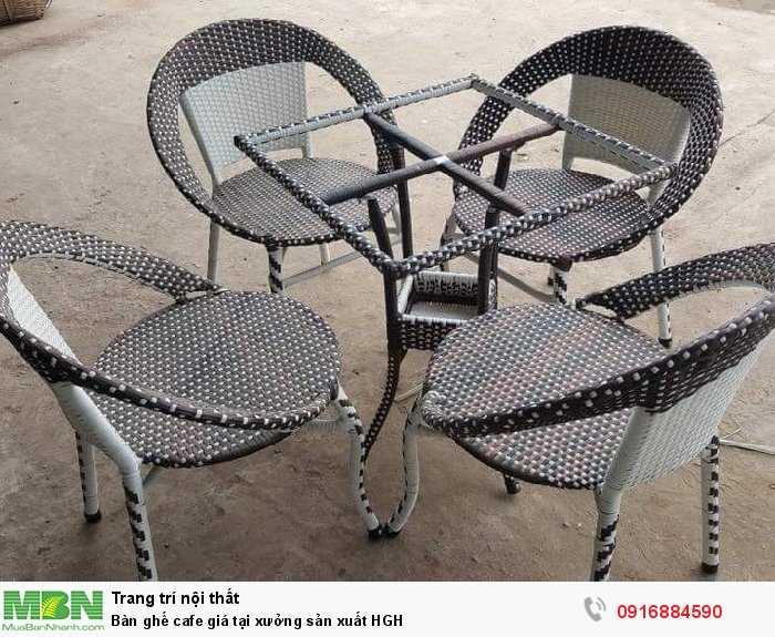 Bàn ghế cafe giá tại xưởng sản xuất HGH0