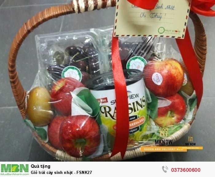 Đặt Giỏ trái cây sinh nhật - FSNK27