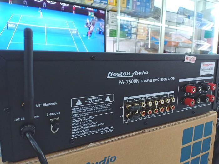 Amply Bluetooth Boston Audio PA-7500N, công nghệ mới nhất Amply có kết nối bluetooth. Giúp Quý khách Karaoke trên điện thoại hoặc máy tính bảng vô cùng tiện lợi0