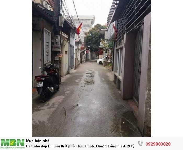 Bán nhà đẹp full nội thất phố Thái Thịnh 33m2 5 Tầng giá 4.39 tỷ về ở luôn