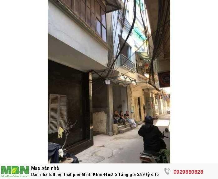 Bán nhà full nội thất phố Minh Khai 44m2 5 Tầng giá 5.89 tỷ ô tô vào được